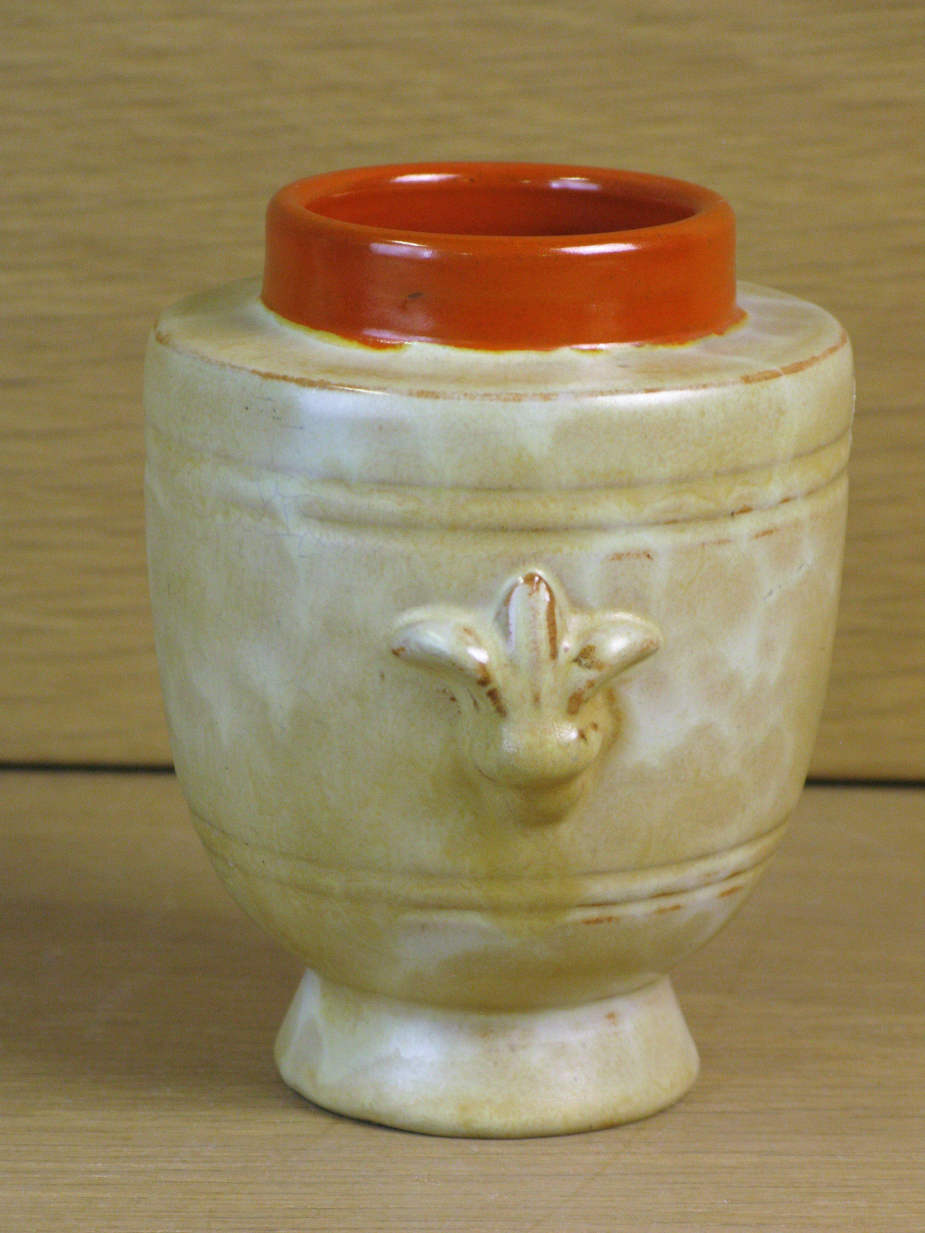 yellowish vase 2653