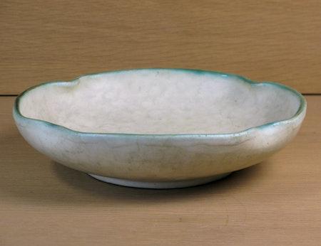 greyish and green bowl 6