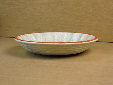 greyish and orange bowl 78