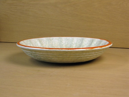 greyish and orange bowl 78