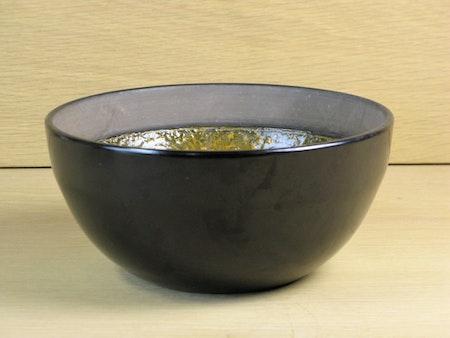 black and orange bowl 3059a