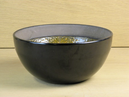 black and orange bowl 3059a