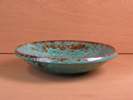 green/brown bowl 3209