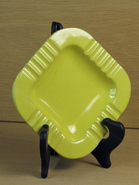 yellow square ashtray