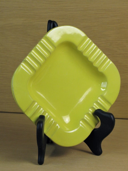yellow square ashtray