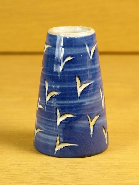 blue miniature vase 114