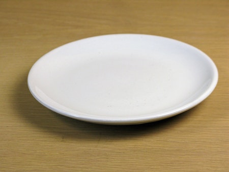 white small plate 100