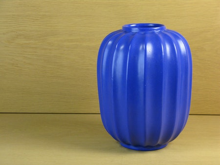 large blue örjan vase