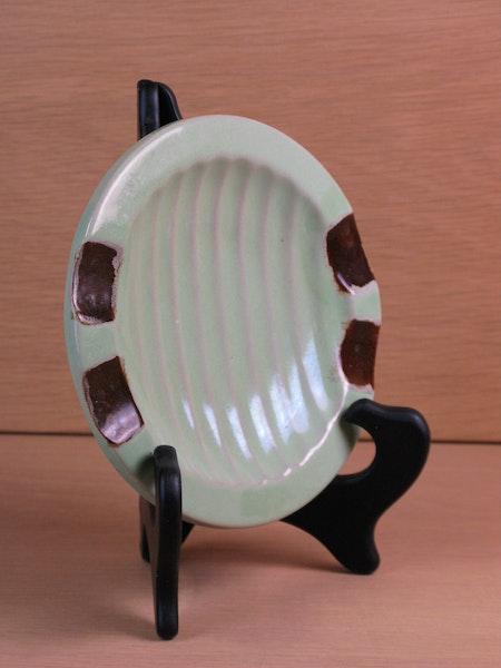 green/brown ashtray 69