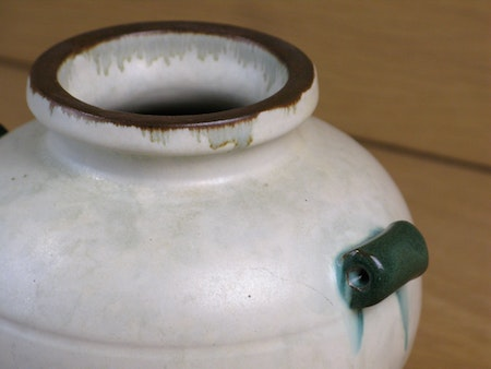 greyish/green/brown vase 71