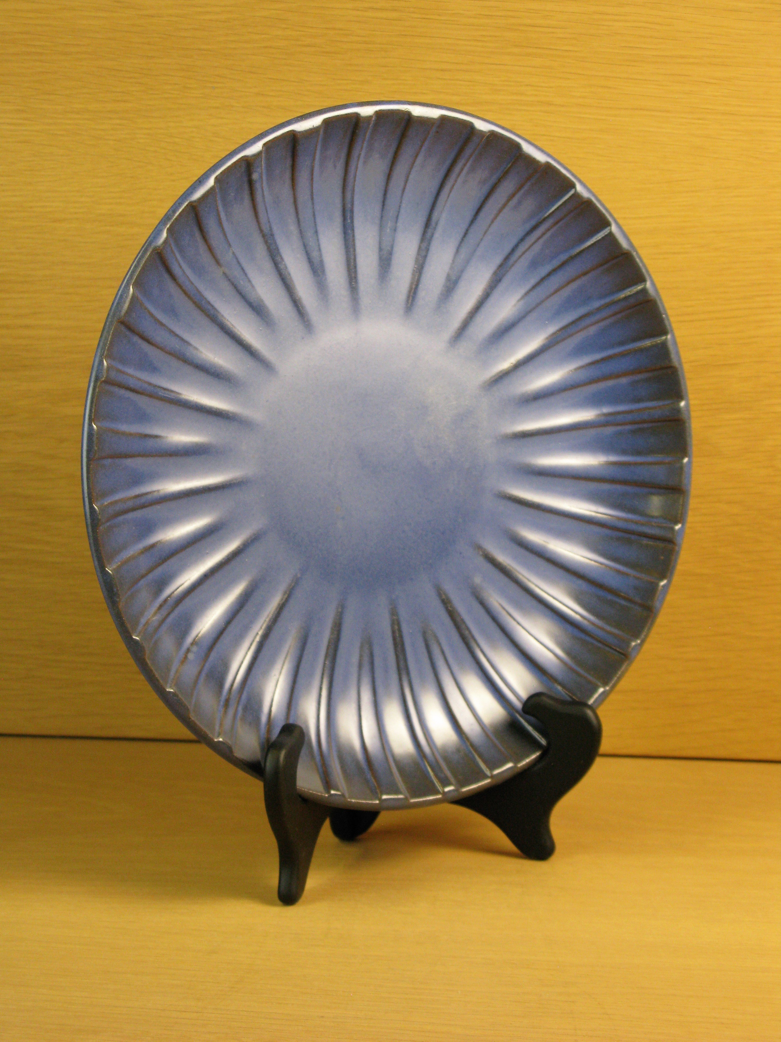 dull blue plate 19