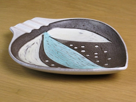 grey/turquoise ashtray 4330/678
