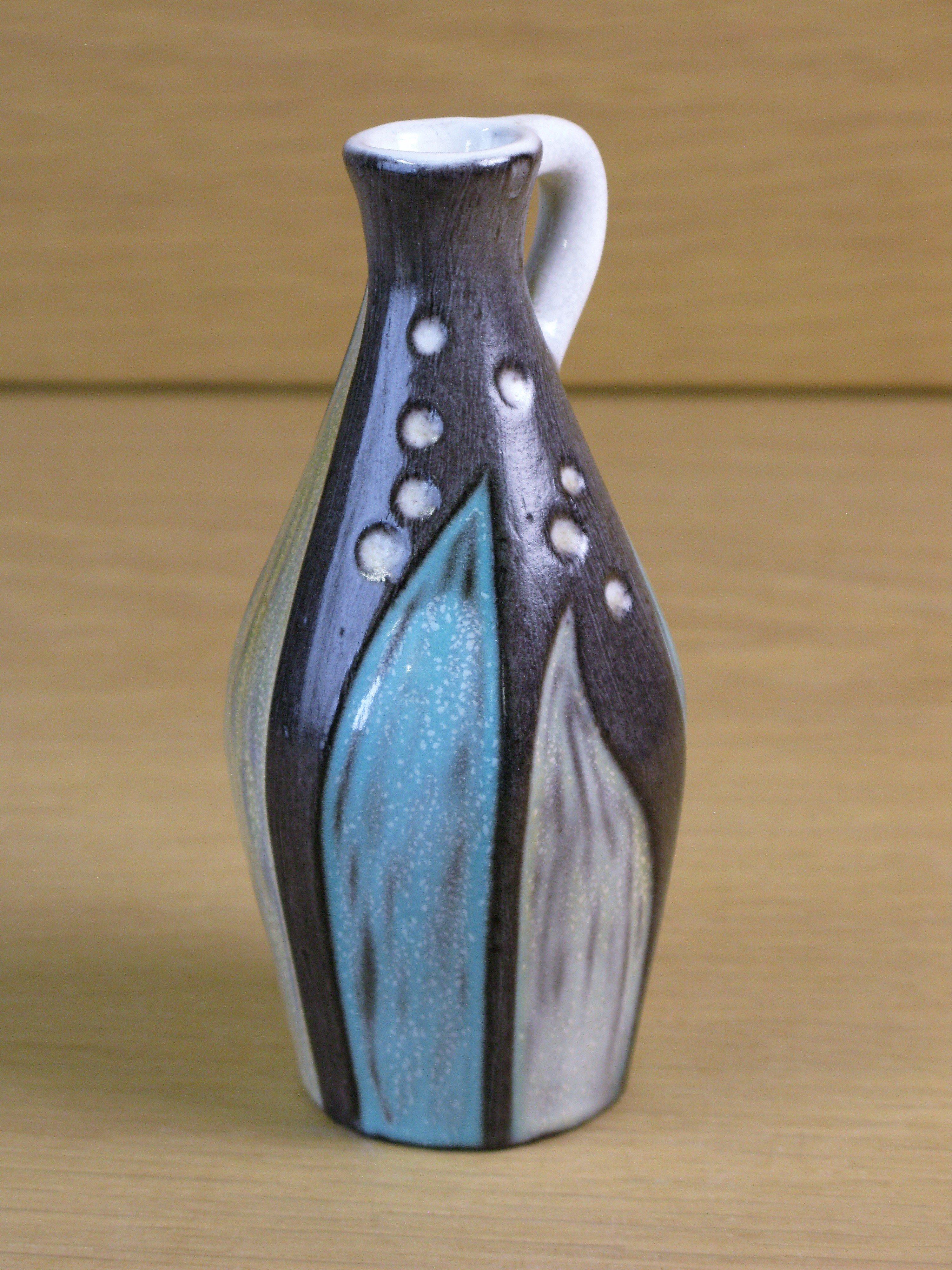 grey/turquoise vase 4330/679