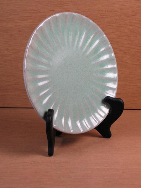 light green small plate 10
