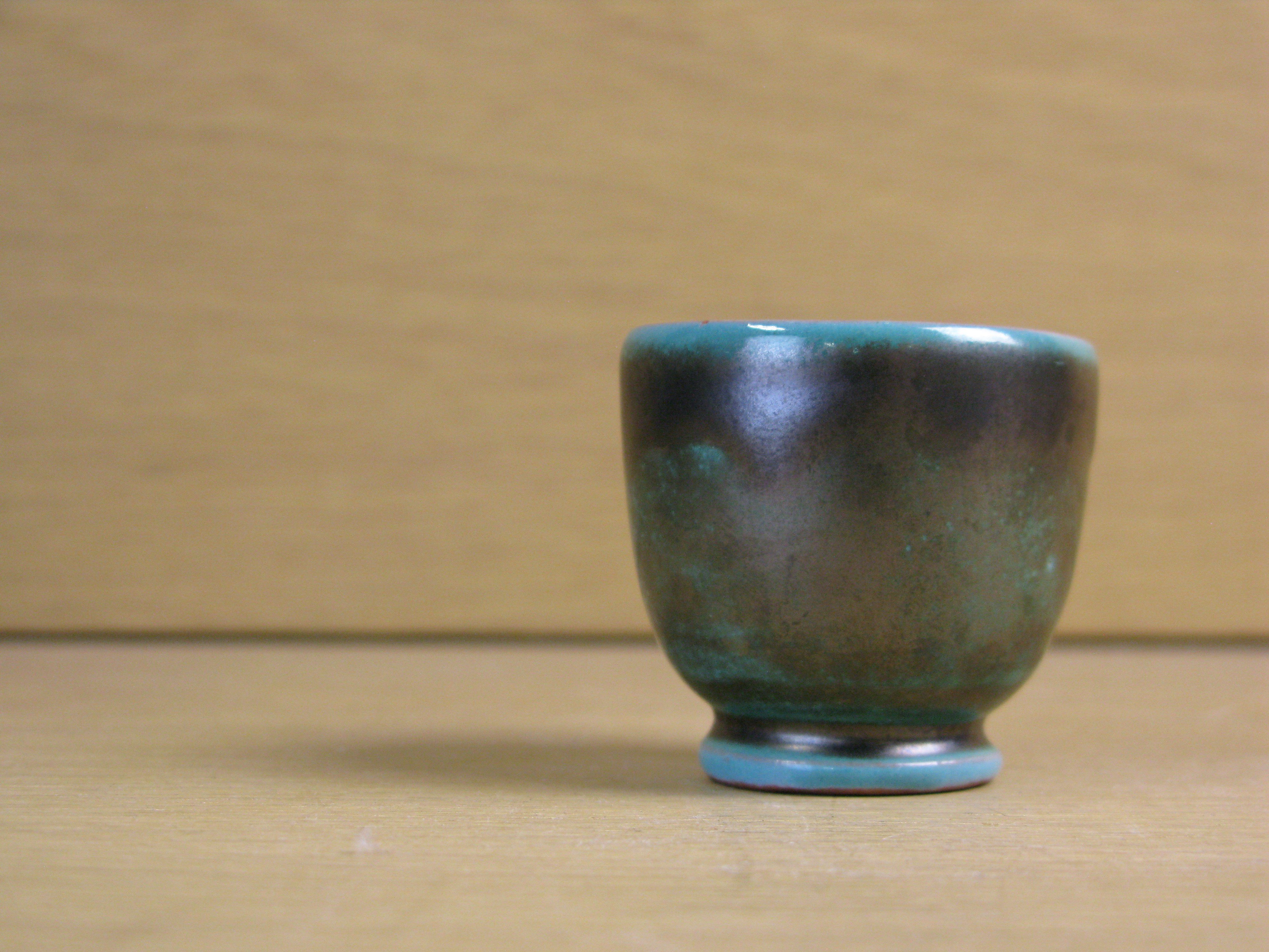 dark green egg cup