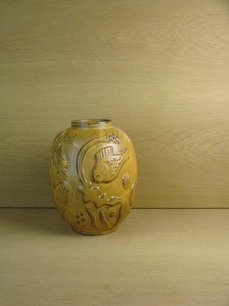 darker brownish vase 221