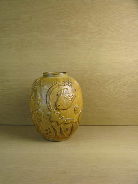 darker brownish vase 221