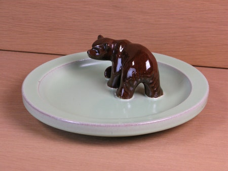 brown bear in green bowl 46