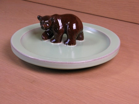 brown bear in green bowl 46