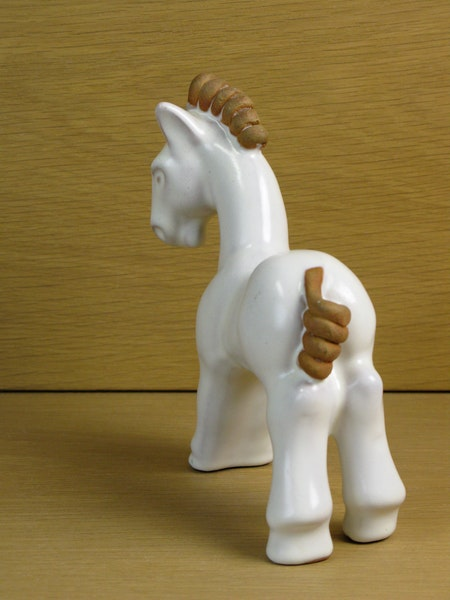 white/brown horse 37