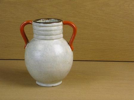 greyish/orange/brown vase 64