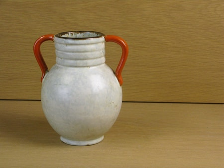 greyish/orange/brown vase 64