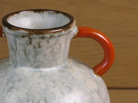 greyish/orange/brown vase 97