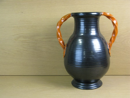 large black/orange vase 1588