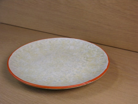 greyish/ornge fruit plate 1