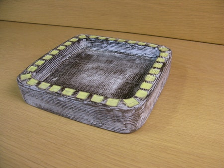 grey/yellow plate 4156