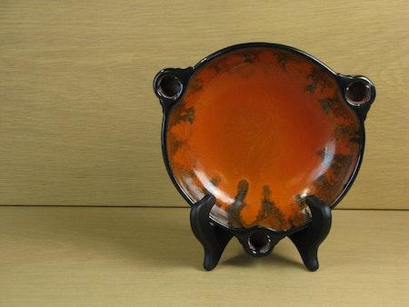 black/orange candle bowl 2506