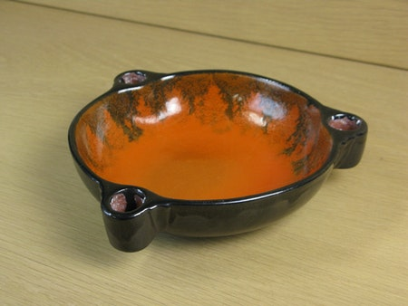 black/orange candle bowl 2506