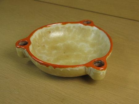 yellowish/orange candle bowl 2506