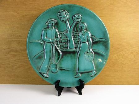 S:t erik green wall plate 834