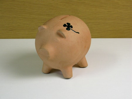 4 leaf clover piggy bank