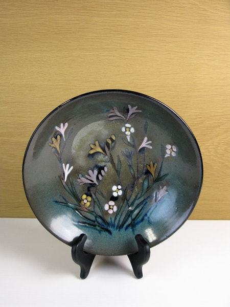 Unique dark flower bowl abg