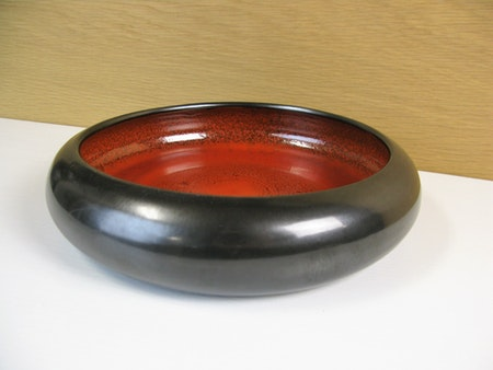 black/orange flower bowl 129