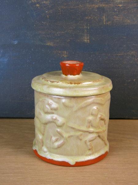 yellowish/orange tobacco jar 1