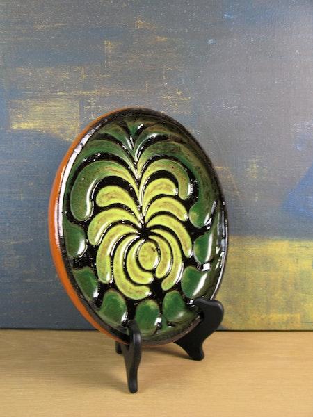 green/orange plate 0187t