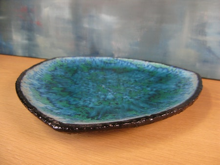 blue/green fiorella plate 2350