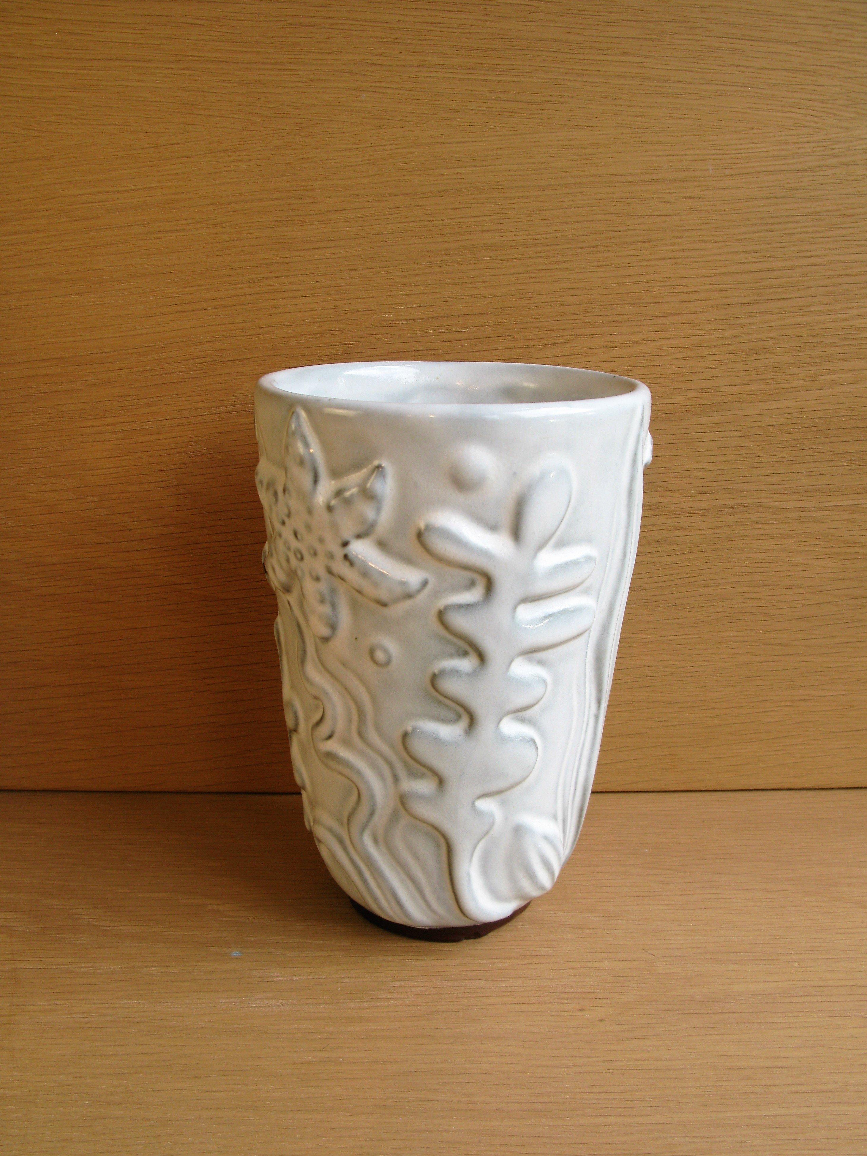white alt gefle vase
