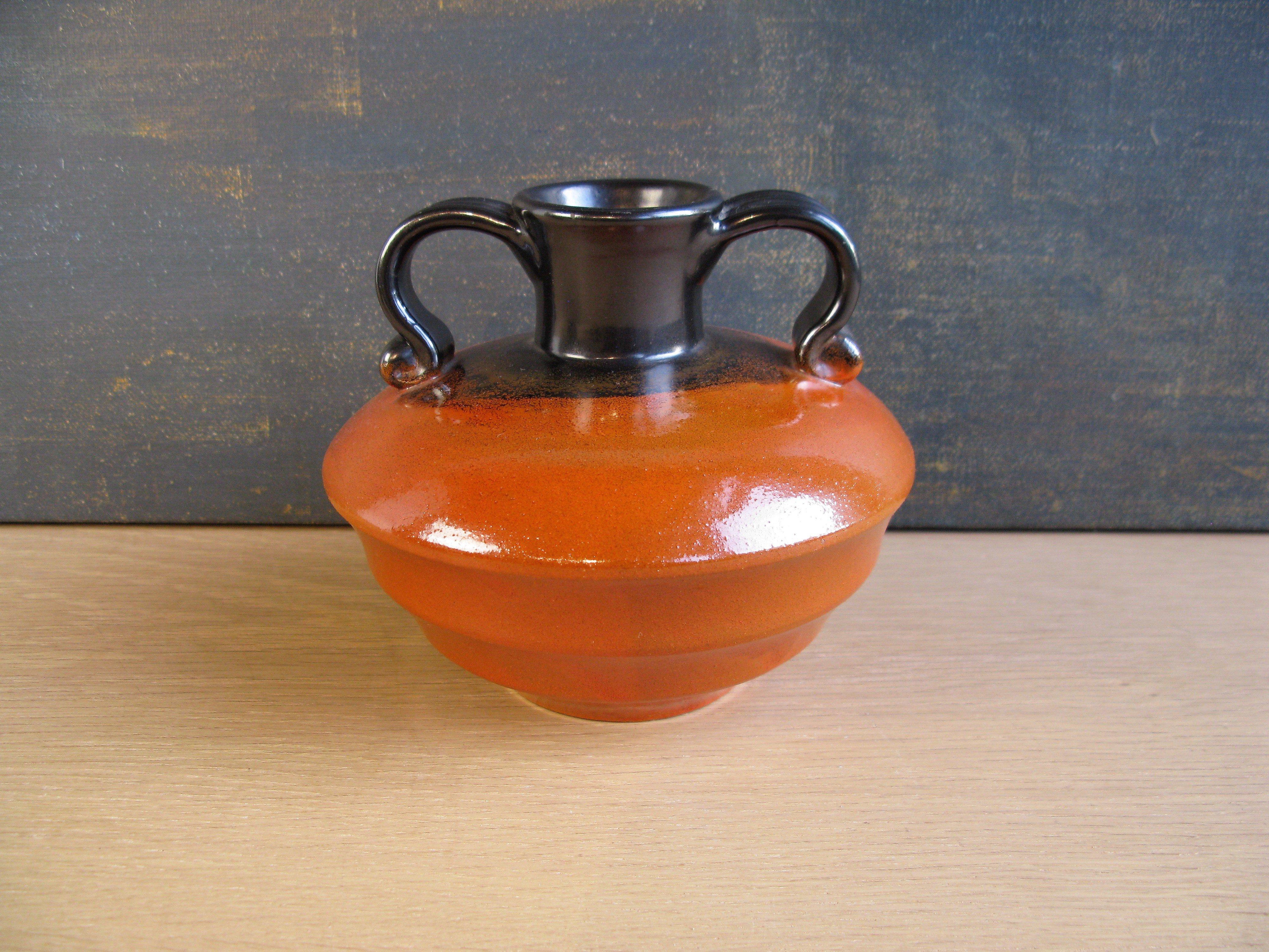 orange/black vase 2761-1