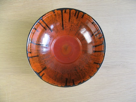 black/orange bowl 139