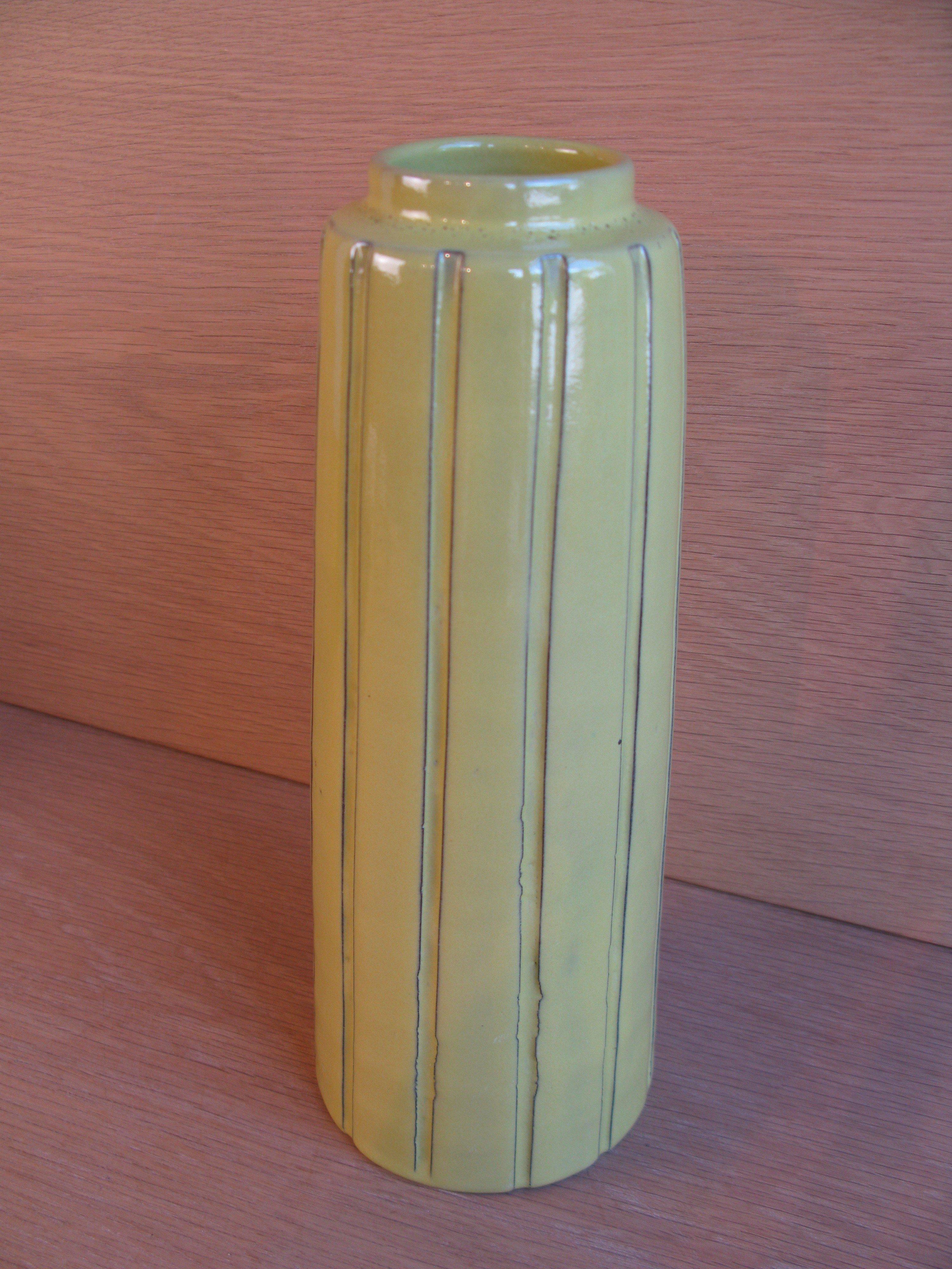 yellow burma vase2159