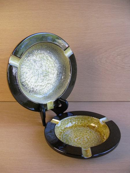 yellow/brown ashtray 4529
