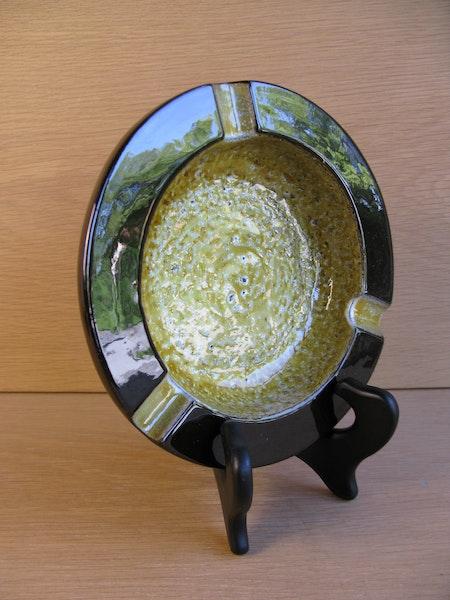 yellow/brown ashtray 4528