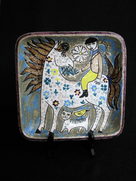 white horse wall plate 4063 sold
