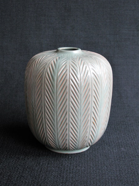 green fishbone vase 23 sold