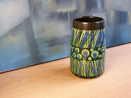 blue/green stripa vase 9040