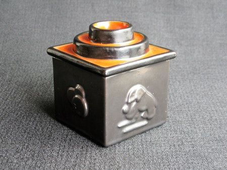 black/orange tobacco jar 5